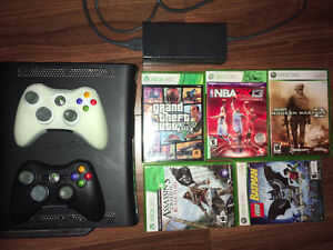Xbox 360, wireless controllers, games