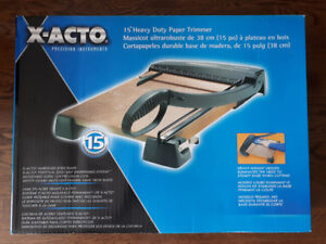 "X-ACTO 15"" Heavy-Duty Guillotine Paper Trimmer/Cutter"