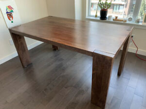 CB2 BLOX 35X63 DINING TABLE