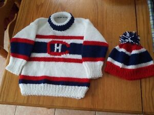 maple leaf & Canadien NHL doggie & Toddler sweaters, personalise