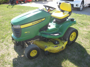 JD X324 4 wheel steer lawn tractor for sale