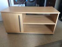 Light wood tv stand