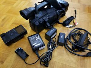 Like a new: Canon camera XH A1 + Canon FS-CF Pro recorder device