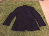 Men's black pinstripe suit for sale