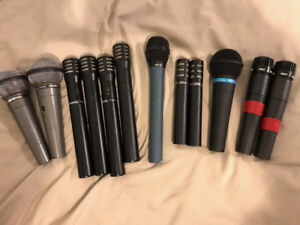 Lots of Microphones (Mics) - SM57, Apex, Shure, Recording