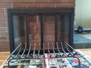 Glassdoor for Fireplace and Steel Fireplace Grate