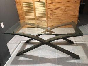 Coffee Table and 2 End Tables - Glass