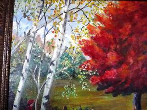 "Original Landscape, Folk Art by C. Winfield ""Early Autumn Hunt"" Stratford Kitchener Area image 10"