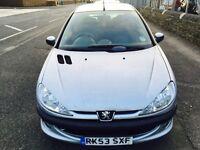 2003 Peugeot 206 1.2 Entice.11 Months MOT.Ideal 1st car Swap px welcome