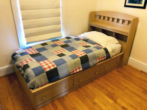 Twin Captains Bed/Mates Bed - Made in Canada