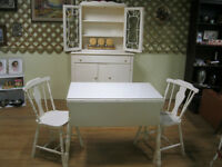 Vintage Dropleaf Table 2 Chairs China Cabinet Sideboard 50% OFF