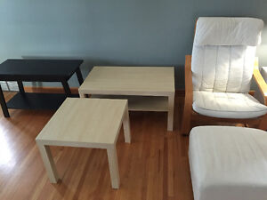 Moving Sale! Tables, BBQ, Chair and Footstool!