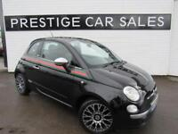 2012 Fiat 500 0.9 TwinAir by Gucci 3dr Petrol black Manual