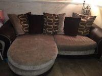 Swivel chair and matching corner sofa