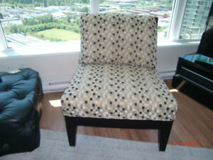 CHAIR AND A HALF - BLACK/WHITE/TAUPE