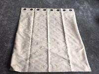 Cream faux suede curtains