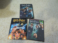 3 Harry Potter DVDs