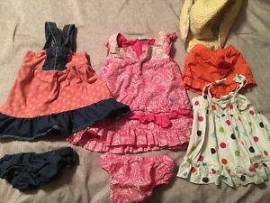 Roxy dresses baby gap shirt and few extras