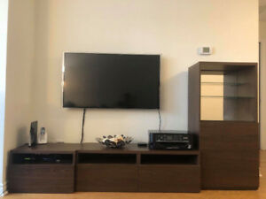 IKEA BESTA 4 piece TV storage combination in brown
