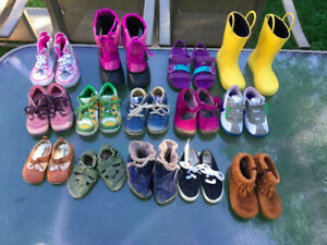 Children's shoes six months to size 9