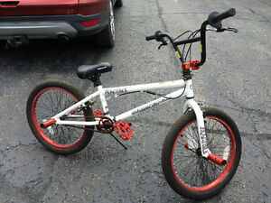 Red and white BMX