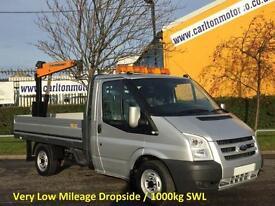 2008 Ford Transit 110 T300s Dropside+Crane Very Low mileage 28k SRW