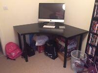 IKEA - Large black corner office/study desk table