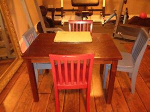 Pottery Barn Kid's Table and Four Chairs