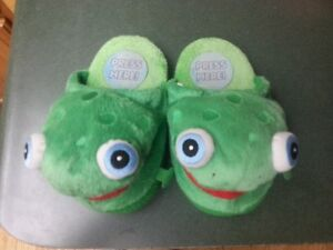 """Snappy"" dragon slippers"