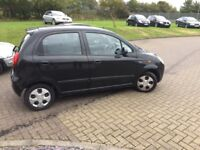 Chevrolet matize 1 litre petrol,56 Reg,only 72000 miles from new,£699.