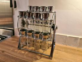Olde Thompson ferris wheel spice rack 20 jar