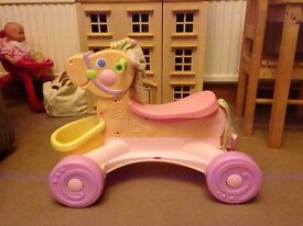 Fisher price ride on musical horse