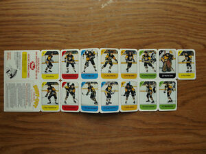 "FS: 1982-83 Post ""PITTSBURGH PENGUINS"" Mini Cards (Canadian Food London Ontario image 1"