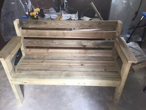 Two person garden bench