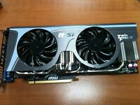 NVIDIA 580GTX MSI twin frozr II overclocked model - excellent cond.