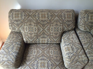 A pair of newly upholstered chairs