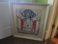 Large Vintage Original Signed Watercolor - REDUCED PRICE