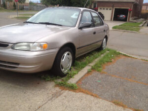 1998 Toyota Corolla for sale as is.