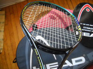 TENNIS RACQUET BY HEAD ATLANTIS XL and CASE LIKE NEW!