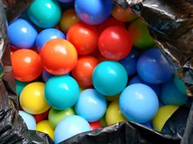 Binbag of Kiddy Moon balls for playpit, ball pit, paddling pool etc