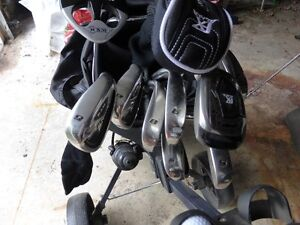 Ram FX Black golf clubs,Cart, and Target Line Practice set Kawartha Lakes Peterborough Area image 2
