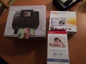 Printer and camera £120