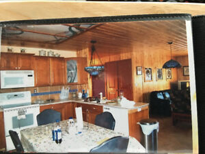 Log home for rent - peaceful setting