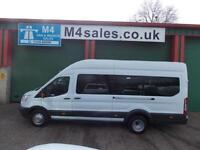 Ford Transit 125ps,17st trend minibus.Delivery miles