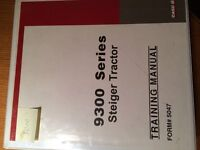 9300 series Steiger tractor training manual