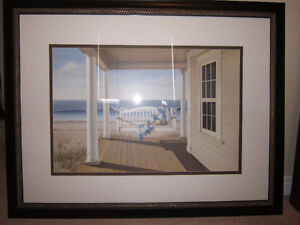 Porch by the Water Print
