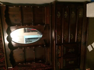 Dresser, dining table and 4 chairs for sale