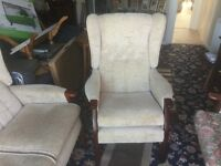 High back comfort settee and chair