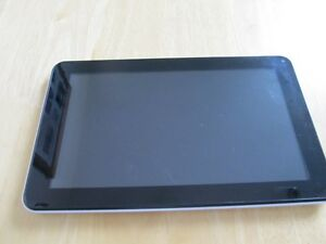white tablet with charger
