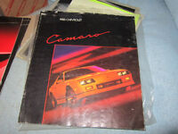 Cutlass, Fiero, Firebird, Camaro, Nova, Vintage Car Brochures .